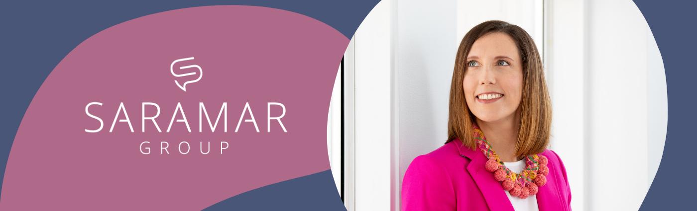 Saramar Group Logo and Sarah Marske, founder and CEO of Saramar Group